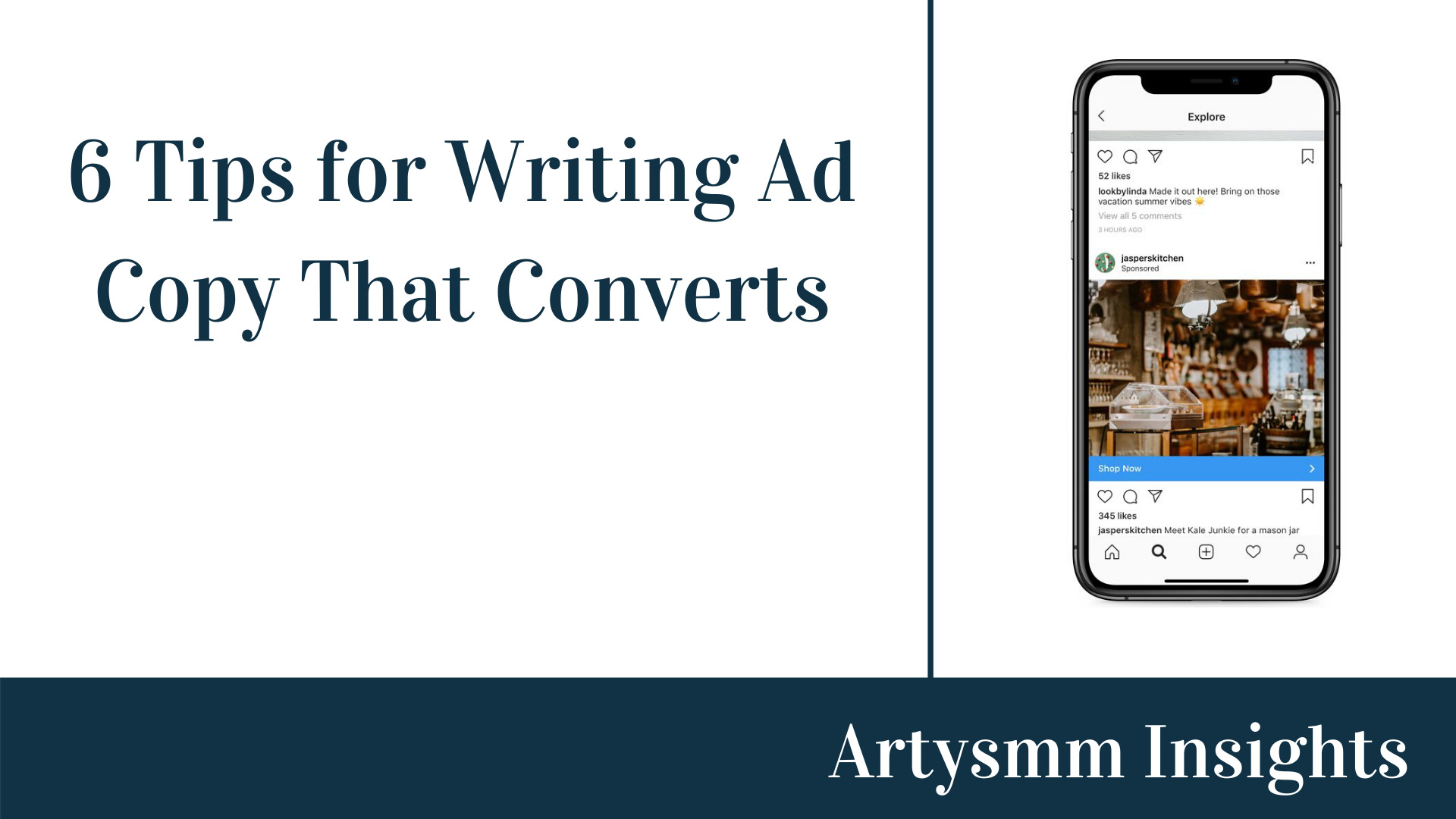 6 Tips For Writing Best Facebook Instagram Ad Copy Artysmm Insights